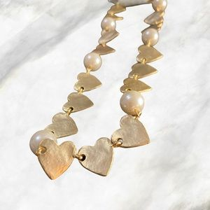 Golden Hearts Cute Necklace